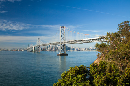 San Francisco City Panorama with Bay bridge photo