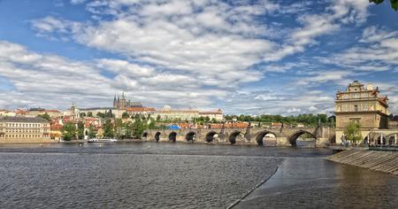 The Prague Castle, the Charles bridge and Novotny lavka