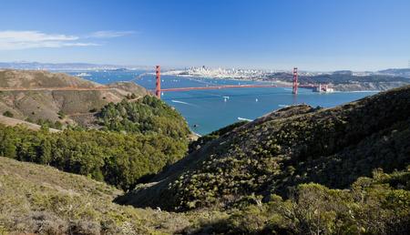 San Francisco With Golden Gate bridge and Alcatraz photo