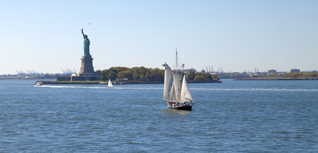 The Statue of Liberty on Liberty Island at New York City photo