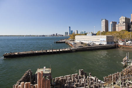 United States coast guard building in New York and Jersey City