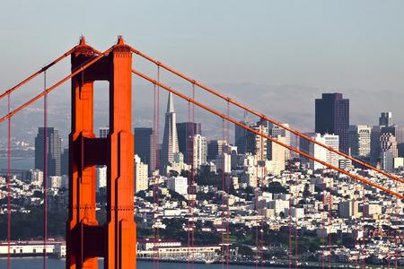 San Francisco from San Francisco Headlands 写真素材
