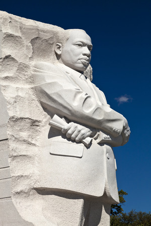 district columbia: Washington DC, USA - October 17, 2014: The Martin Luther King Jr. Memorial located on the National Mall on the Tidal Basin in Washington DC is America Editorial