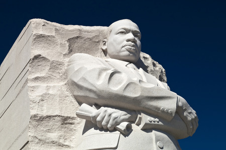 Washington DC, USA - October 17, 2014: The Martin Luther King Jr. Memorial located on the National Mall on the Tidal Basin in Washington DC is America Редакционное