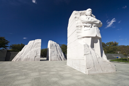 assassinated: Washington DC, USA - October 17, 2014: The Martin Luther King Jr. Memorial located on the National Mall on the Tidal Basin in Washington DC is America Editorial