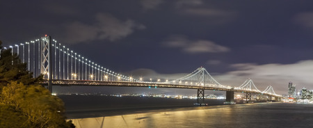 San Francisco Bay bridge in the nigt photo