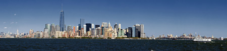 Panorama New York City and Brooklyn at afternoon photo