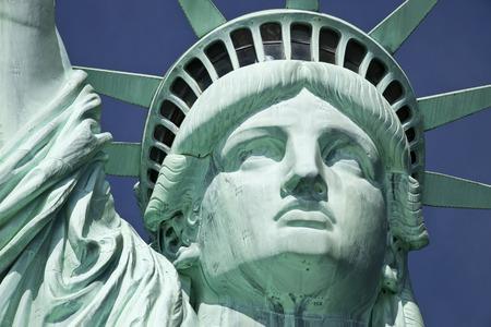 ニューヨーク市でリバティ島の自由の女神像 写真素材