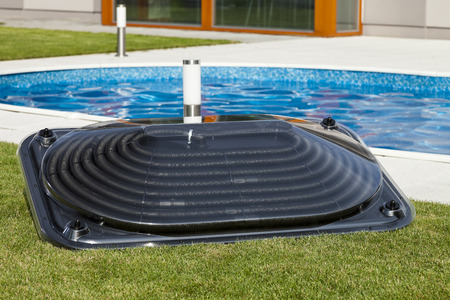 Solar water heating panel for the pool