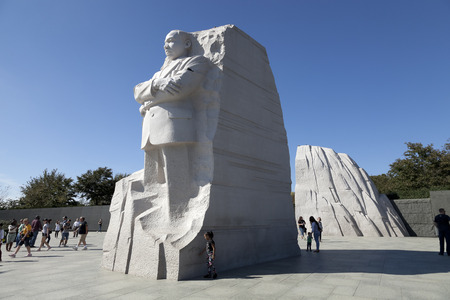 district of columbia: Washington DC, USA - October 17, 2014: The Martin Luther King Jr. Memorial located on the National Mall on the Tidal Basin in Washington DC is Americas 395th National Park.