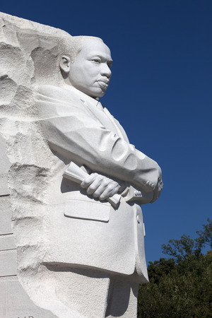 Washington DC, USA - October 17, 2014: The Martin Luther King Jr. Memorial located on the National Mall on the Tidal Basin in Washington DC is Americas 395th National Park.