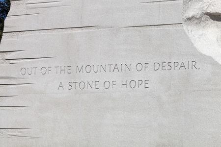 rey: Washington DC, EE.UU. - 17 octubre, 2014: El Memorial Martin Luther King Jr. se encuentra en el National Mall en el lavabo de marea en Washington DC es el Parque Nacional 395a de Estados Unidos. Editorial