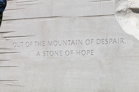 martin luther king: Washington DC, USA - October 17, 2014: The Martin Luther King Jr. Memorial located on the National Mall on the Tidal Basin in Washington DC is Americas 395th National Park.
