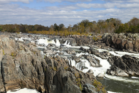 running water: Great Falls Park on Potomac River, Virginia, USA