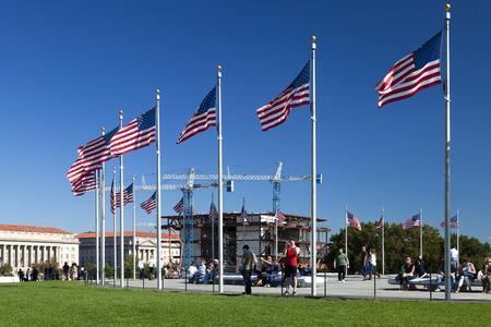 Washington DC, États-Unis - le 17 Octobre, 2014: Prévu pour ouvrir en 2016, le Musée américain Afro est en cours de construction sur le National Mall à Washington, DC, États-Unis Banque d'images - 55837196