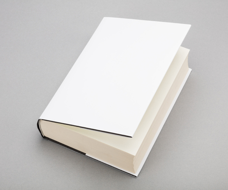mag: Thick Blank book with ajar white cover