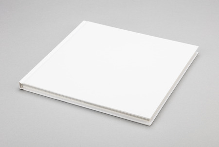 magazine layout design template: Blank book with white cover