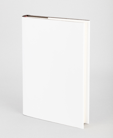 blank template: Blank book with white cover
