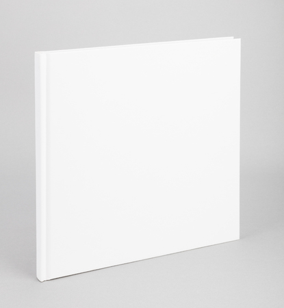 Blank book with white cover Stock Photo - 46969882