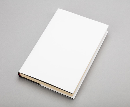 book page: Blank book with white cover