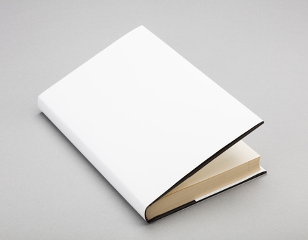 paperback: Blank book with ajar white cover