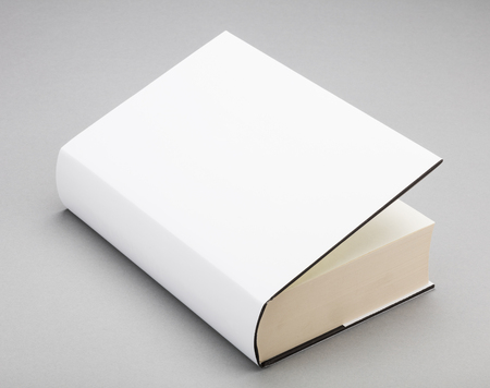 book cover: Thick Blank book with ajar white cover