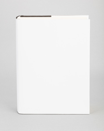 mag: Thick Blank book with white cover Stock Photo