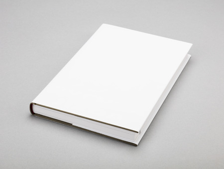 reading book: Blank book with white cover