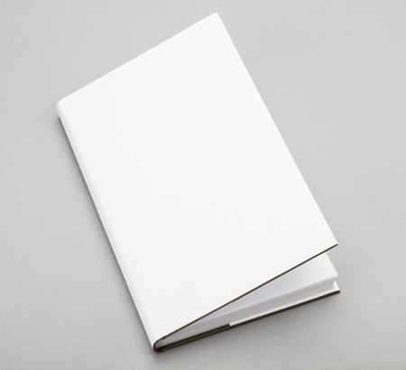 open book: Blank book with ajar white cover