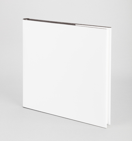 spread sheet: Blank book with white cover