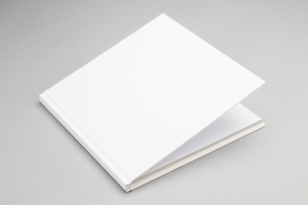 ajar: Blank book with ajar white cover 8,5 x 8,5 in