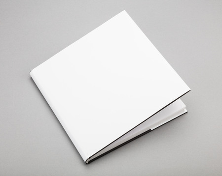 mag: Blank book with ajar white cover
