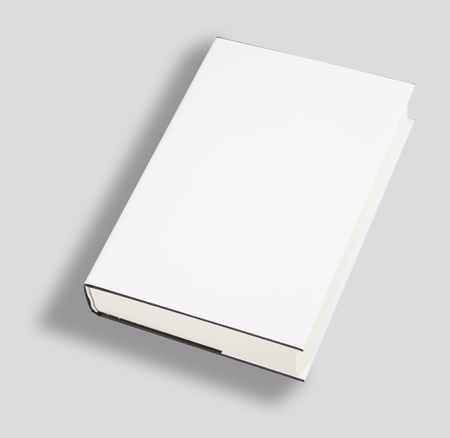 read magazine: Blank book white cover w clipping path Stock Photo