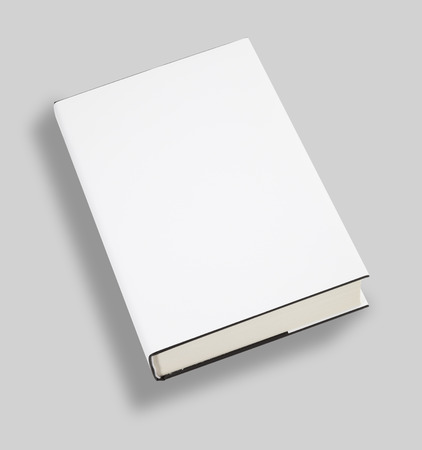 magazine template: Blank book white cover w clipping path Stock Photo