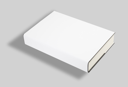 mag: Blank book white cover w clipping path Stock Photo