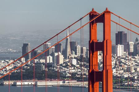 transamerica: San Francisco from San Francisco Headlands Stock Photo