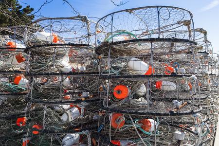 trap: Lobster trap on Pacific shore