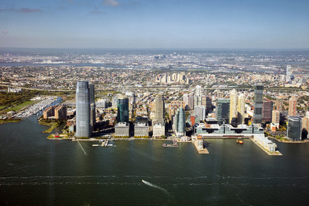 New Jersey, Jersey City panorama Imagens