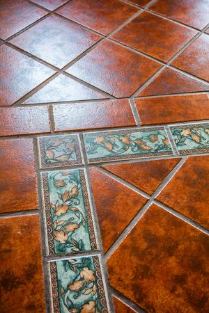 Mexican tiles on the floor Фото со стока