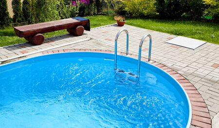 Metal swimming pool steps