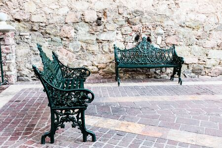 Metal Church Bench with ornamental style