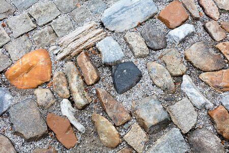 Street pavement and old wet cobblestones Reklamní fotografie