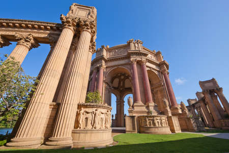 SAN FRANCISCO CA USA - Oct 19, 2011 : The Palace Of Fine Arts - Ancient building of San Francisco, California, United states , USA - Travel and tourist sightseeing concept