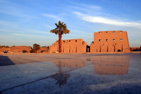 Luxor temple in Egypt, winter, sunset photo