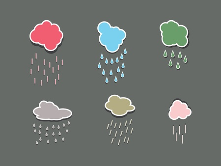 cumulus cloud: Vector clouds collection  Weather icon for design