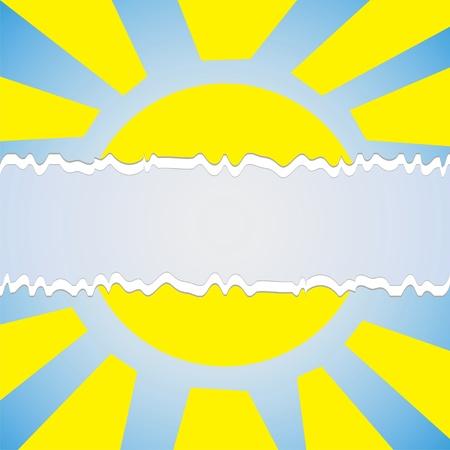 abstract sun symbol Vector