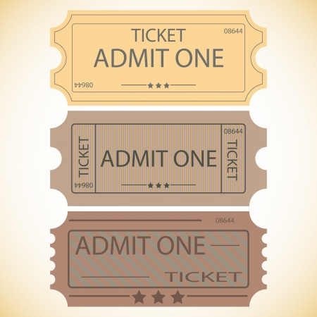 circus ticket:  three tickets