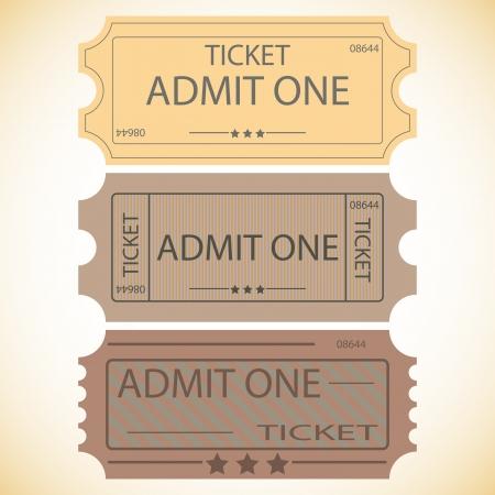 three tickets Stock Vector - 13041533