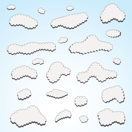 Blue sky and clouds  Stock Vector - 13041538