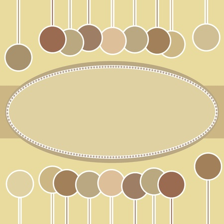 decorative oval frame  Vector